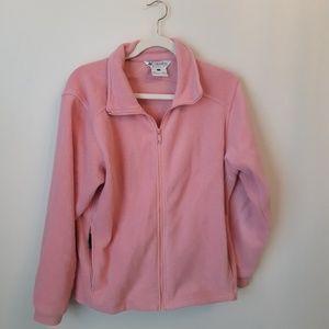 COLUMBIA fleece size large  soft bubblegum pink